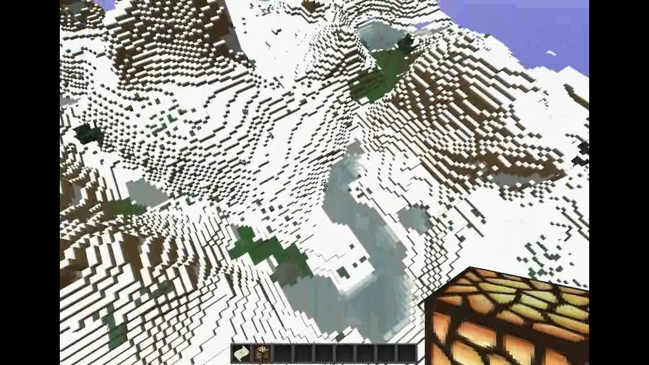 Minecraft 132 Snow Mountain Seed With Cave System Youtube
