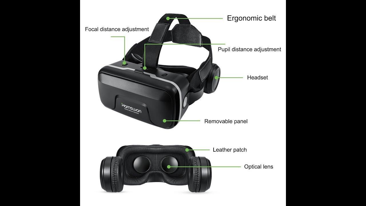c72ef532af71 HAMSWAN G04EA 3D VR Glasses Review - YouTube