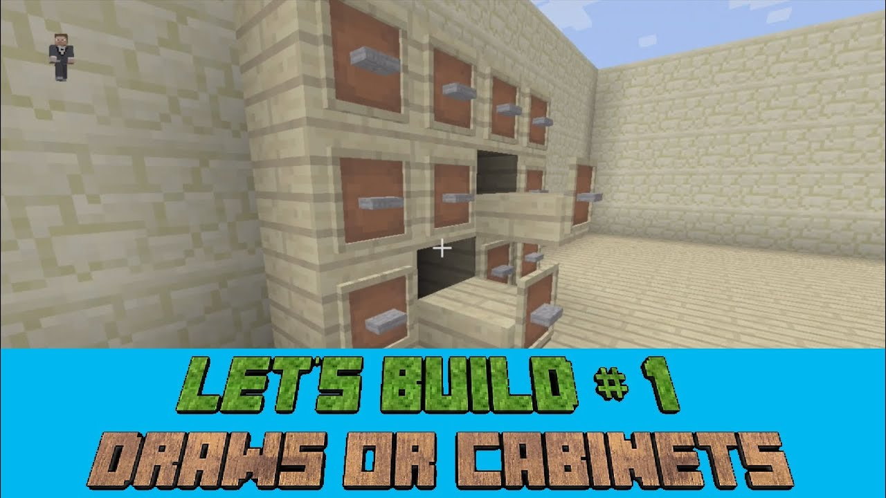 Minecraft Let's Build #1 - Filing Cabinet Or Set Of Draws (Xbox ...