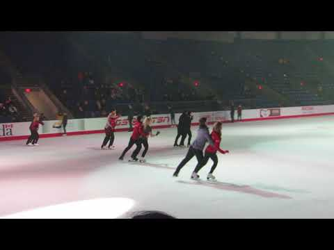 Canadian Skating Championships Gala Practice Group Number #4