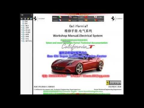 Ferrari CaliforniaT California Workshop Manual Service ...