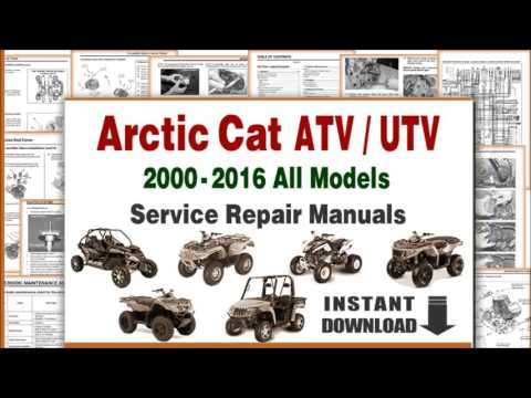 download arctic cat atv utv all models service repair manuals pdf - youtube