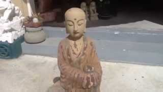 Chinese Antique Wooden Monk