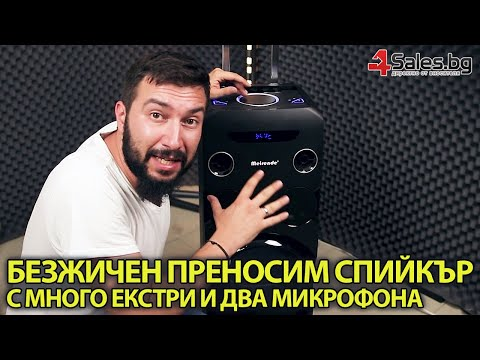 Безжична тонколона 10 инча 250 W с два микрофона, Bluetooth, USB MH-338-A 12