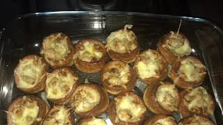 Yorkshire puddings / with chicken ( Desi style )