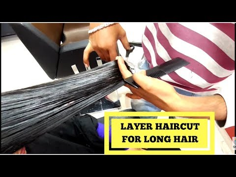 90 Degree Layer Haircut for Long Hair