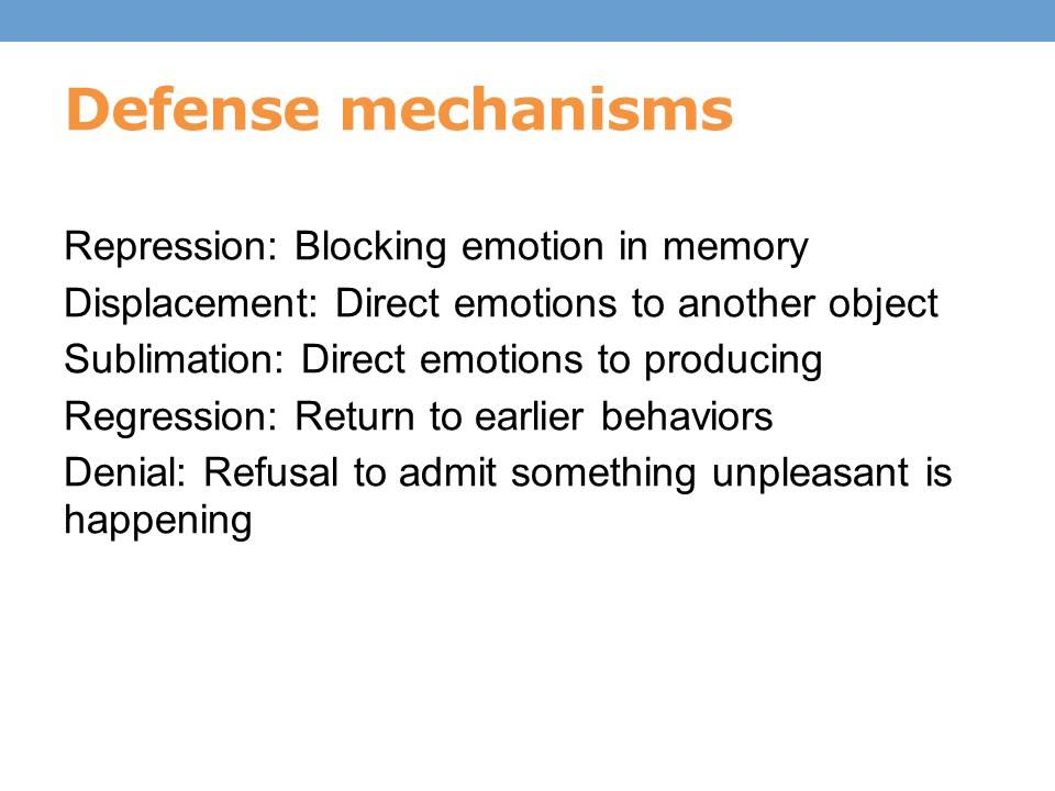 Freud S Psychosexual Stages Of Development Defense Mechanisms