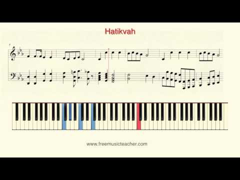 How To Play Piano: Israel,s National Anthem