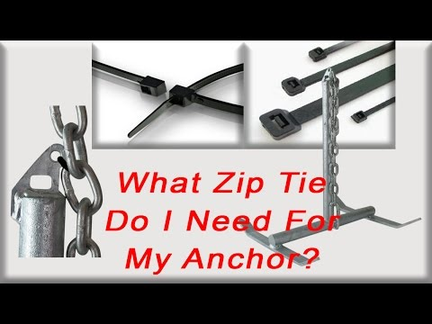91b9684a3012 What zip tie do I need to for my boat anchor? - YouTube