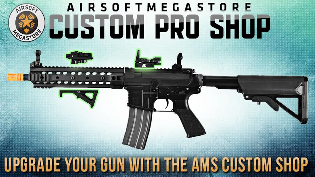 upgrade your airsoft gun with the ams custom pro shop