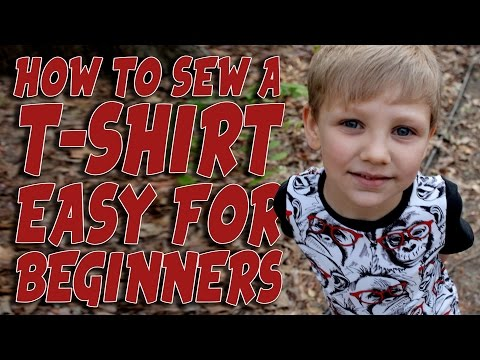 How to sew a T-shirt / Sewing with Stretch Fabric - Knit Shirt