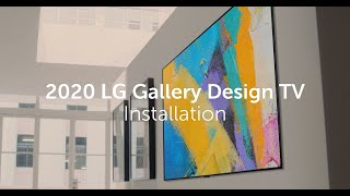 2020 LG Gallery Design TV l Unveiling the secret of the flush fit on your wall