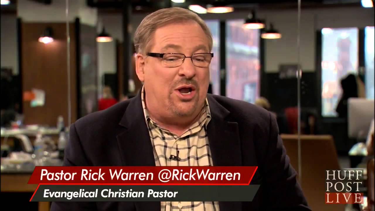Rick warren and homosexuals not