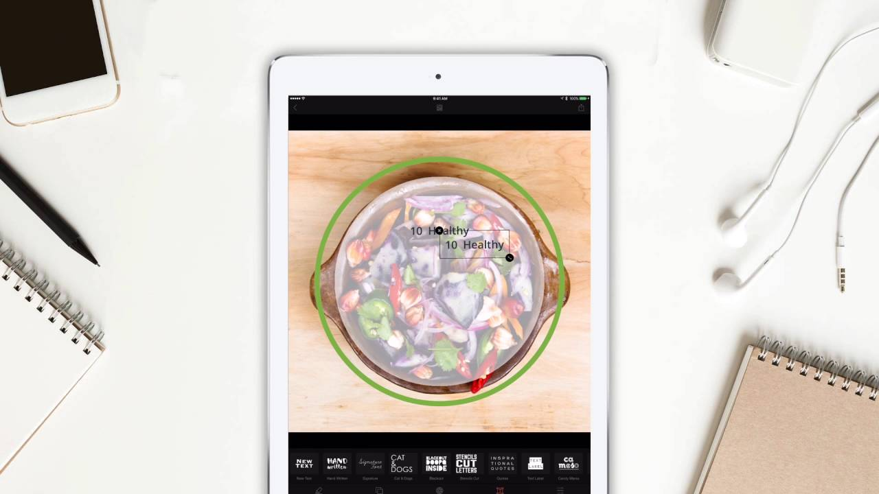 Create an food graphic in 60 seconds cameraxis iphone for Application creation cuisine