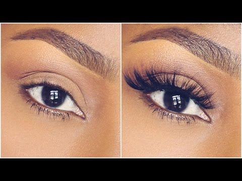 HOW TO APPLY FALSE EYELASHES ON CURLY LASHES (BEGINNER FRIENDLY) | DIMMA UMEH