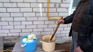 Как рубить капусту для квашения на зиму