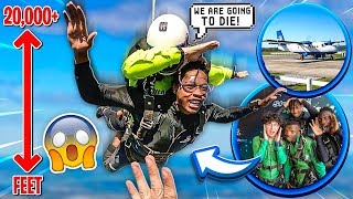 I MADE MY EDITORS GO SKYDIVING FOR THE FIRST TIME!💔