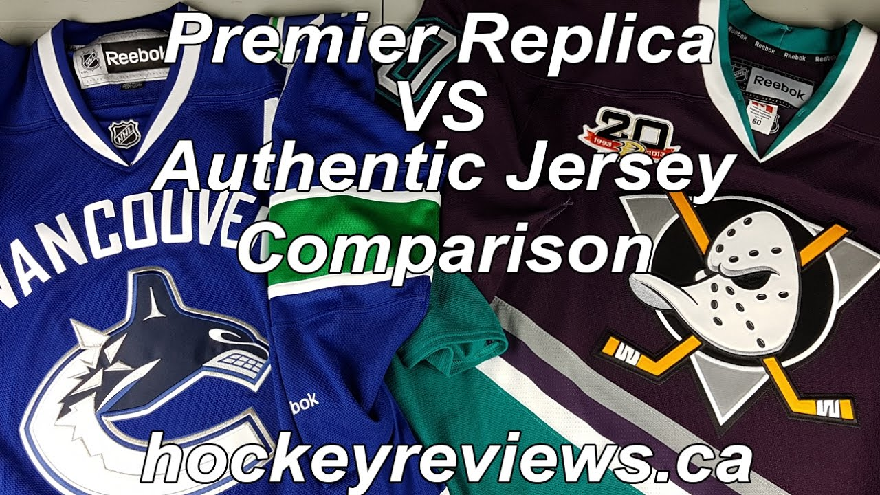 c3369ef9463 NHL Reebok Premier Replica Jersey vs Indonesian Edge vs Authentic Edge 2.0  Comparison Review. Hockey Reviews