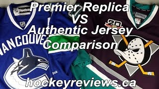 NHL Reebok Premier Replica Jersey vs Indonesian Edge vs Authentic Edge 2.0 Comparison Review