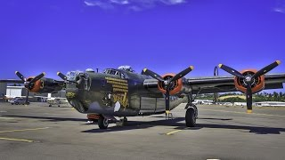 "WWII Consolidated B-24 Liberator ""Witchcraft"" Heavy Bomber Media Flight"