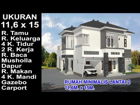 Desain Rumah Minimalis Ukuran 6x15 modern house 11 6x15 4 k tidur desain rumah minimalis