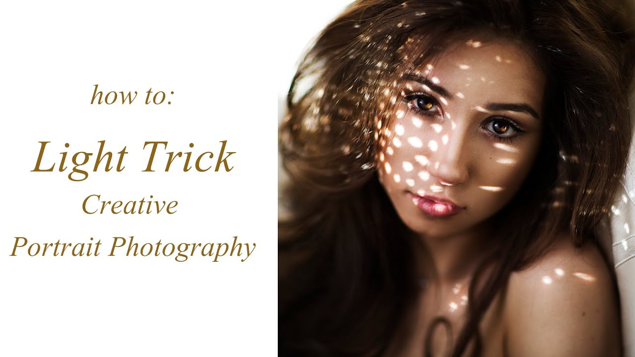 Creative DIY Portrait Tutorial Using Just Light Dots Photoshoot Ideas