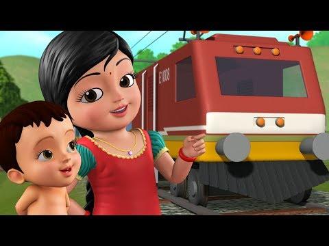 கூக் கூ ரயில் வண்டி - Kids Train Song | Tamil Rhymes for Children |  Infobells
