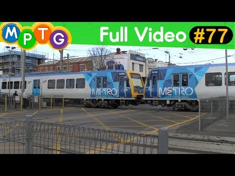 Metro trains and trams through the Glenhuntly tram square (Full Video #77)