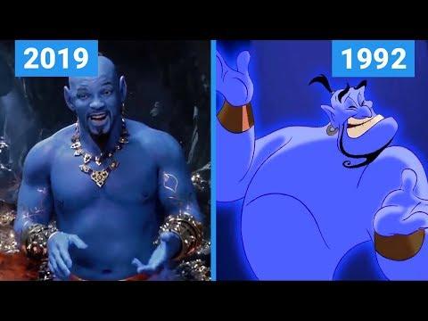 Aladdin 2019 Vs 1992 Teaser Trailer Comparison