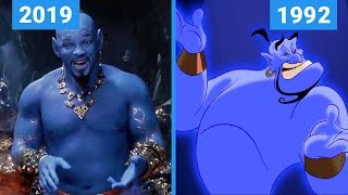 Aladdin 2019 Vs 1992 Teaser Trailer Comparison