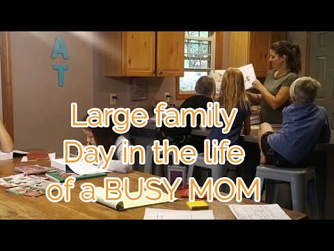 Large Family Day in the Life of a BUSY Mom