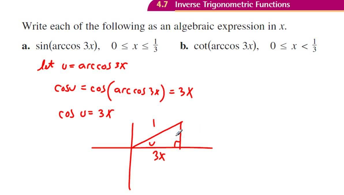 worksheet Algebraic Expression writing trig functions as algebraic expressions youtube expressions