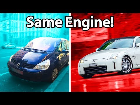 5 Cars You'd Never Guess Shared Engines!! 🔧