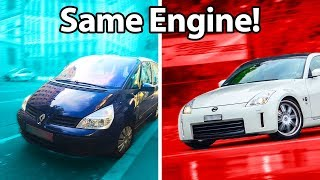 Download 5 Cars You'd Never Guess Shared Engines!! 🔧 Mp3 and Videos