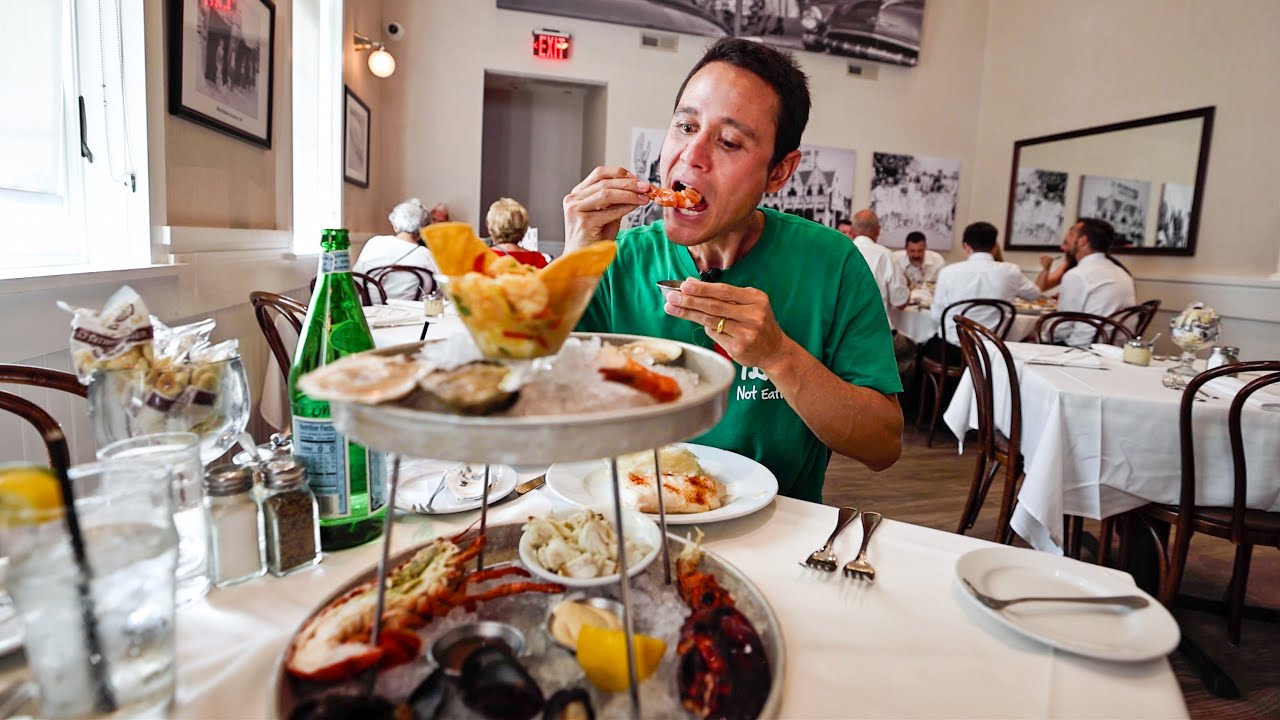 BEST SEAFOOD in Atlantic City!! 🦐 USA FOOD TOUR - Anthony Bourdain New Jersey (Day 2)
