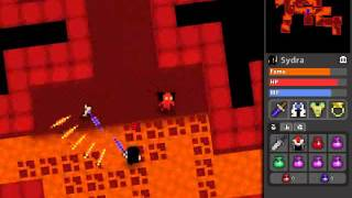 ROTMG - Warrior solo rush-and-clean abyss without pet/drakes