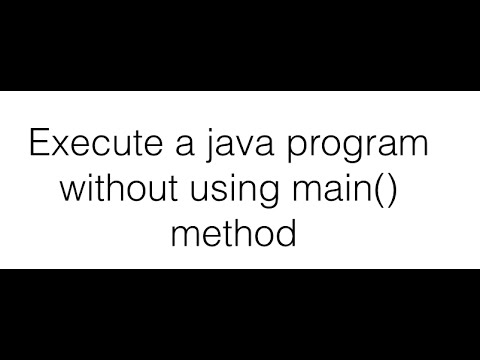 how to create a main method in java