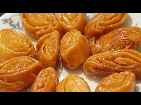 Easy Madatha Kaja recipe in telugu by amma kitchen - Indian sweet