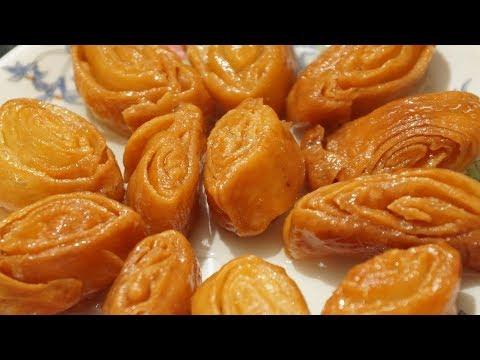 Easy Madatha Kaja recipe in telugu by amma kitchen - Indian sweet