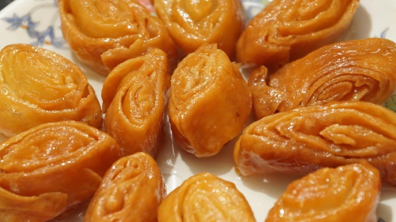Easy Madatha Kaja recipe in telugu by amma kitchen ...