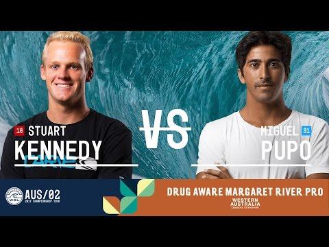 Stuart Kennedy vs. Miguel Pupo - Round Two, Heat 12 - Drug Aware Margaret River Pro 2017