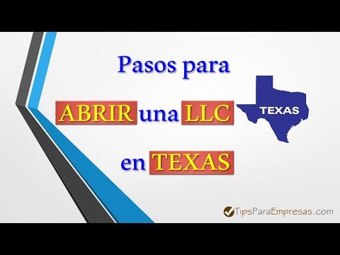 ✔️ Como abrir una LLC en Texas 💻