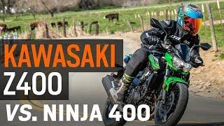 Kawasaki Z400 vs. Ninja 400