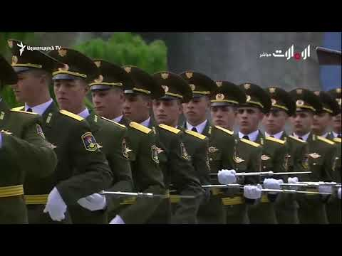 Яркое выступление почётного караула армии Республика Армения в О А Э. الإمارات العربية المتحدة
