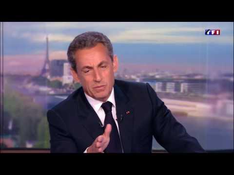 Nicolas Sarkozy était l'invité du JT de 20h #NS2017 le 17/07/2016 ( COMPLET )