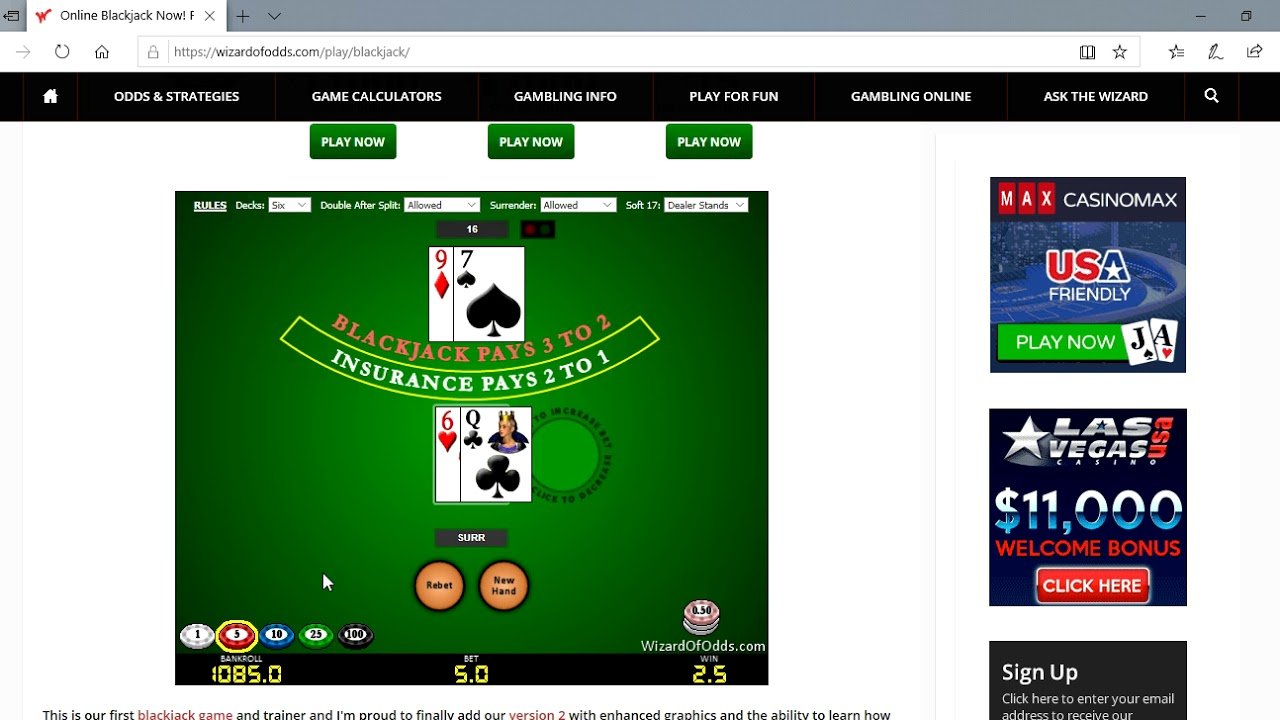 How To Beat Video Blackjack