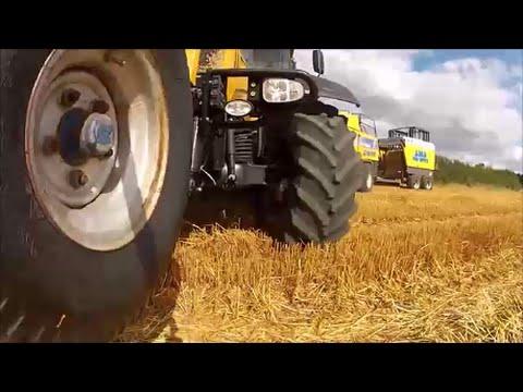 Baling oat straw