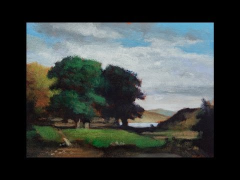 Study by M Francis McCarthy of: Oak Trees by Edward Bannister