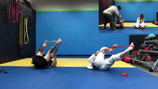 "Jiu-Jitsu Special-workout program with Short & Long-Range Resistance-Bands-""The spider-guard"
