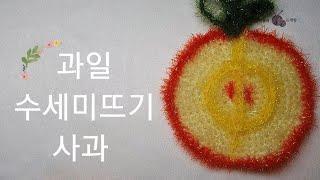 [과일 수세미뜨기 사과…